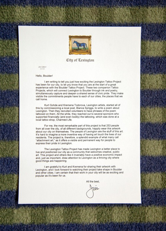 Letter from Mayor Gray to Boulder